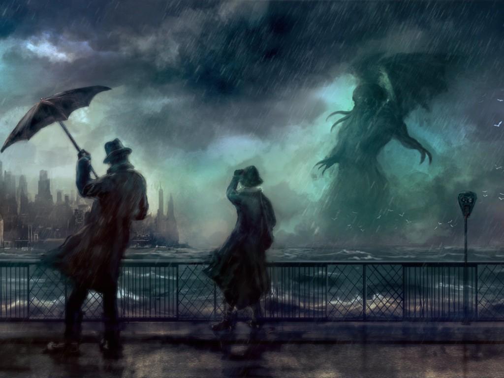 Fantasy Wallpaper: Cthulhu - Rain