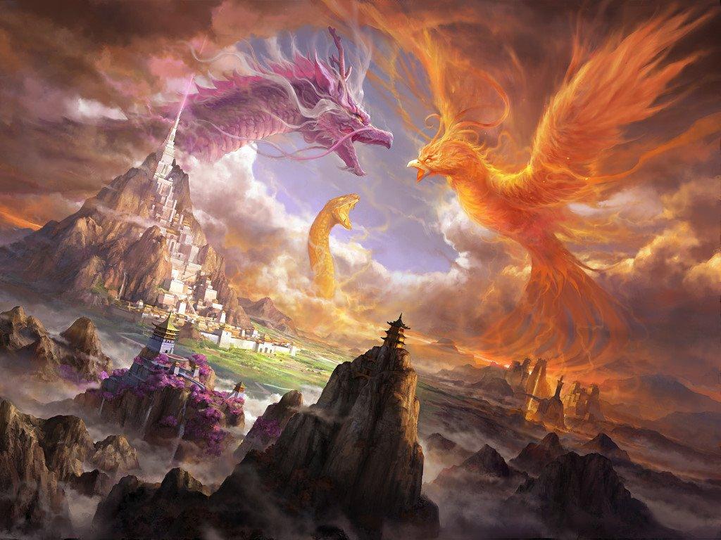 Fantasy Wallpaper: Clash of Gods