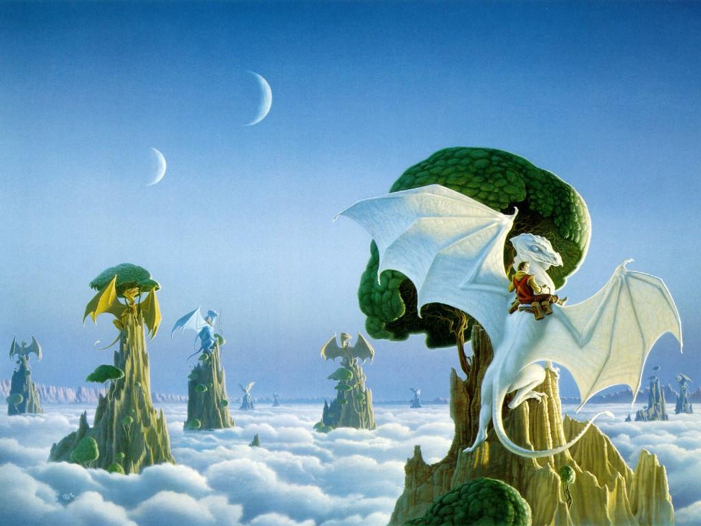 Fantasy Wallpaper: Cloud Dragons