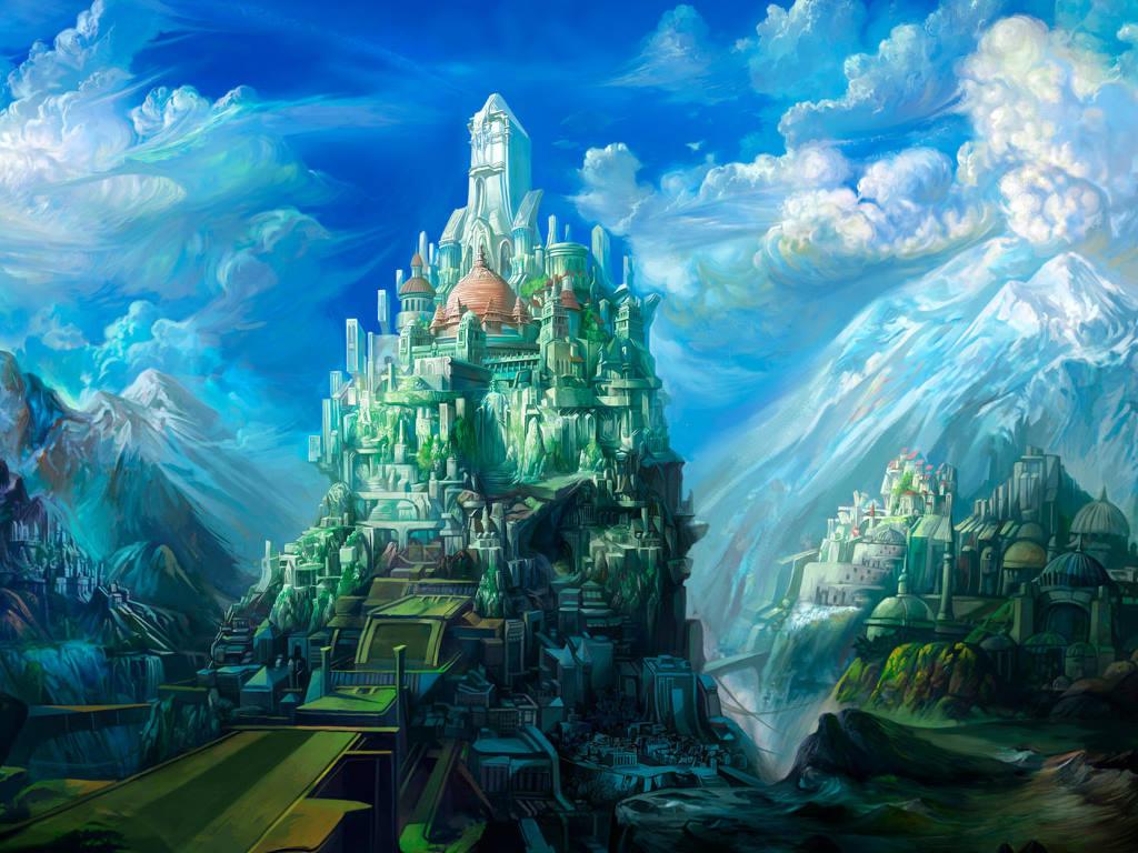 Fantasy Wallpaper: Colorful Castle