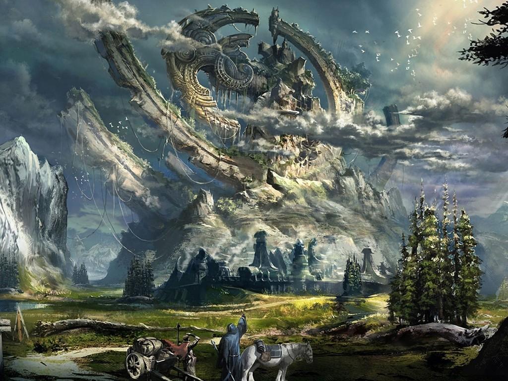 Fantasy Wallpaper: Colossal Ruins