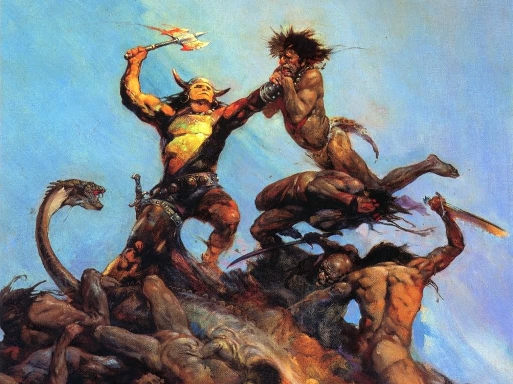 Fantasy Wallpaper: Conan (by Frank Frazetta)