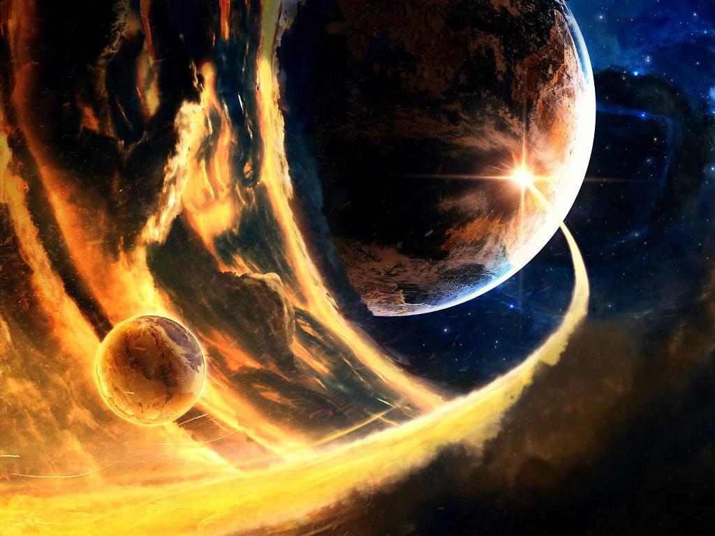 Fantasy Wallpaper: Cosmic Flames