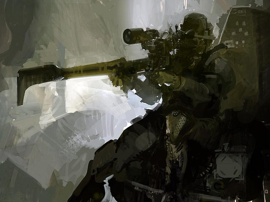 Fantasy Wallpaper: Craig Mullins - Sniper