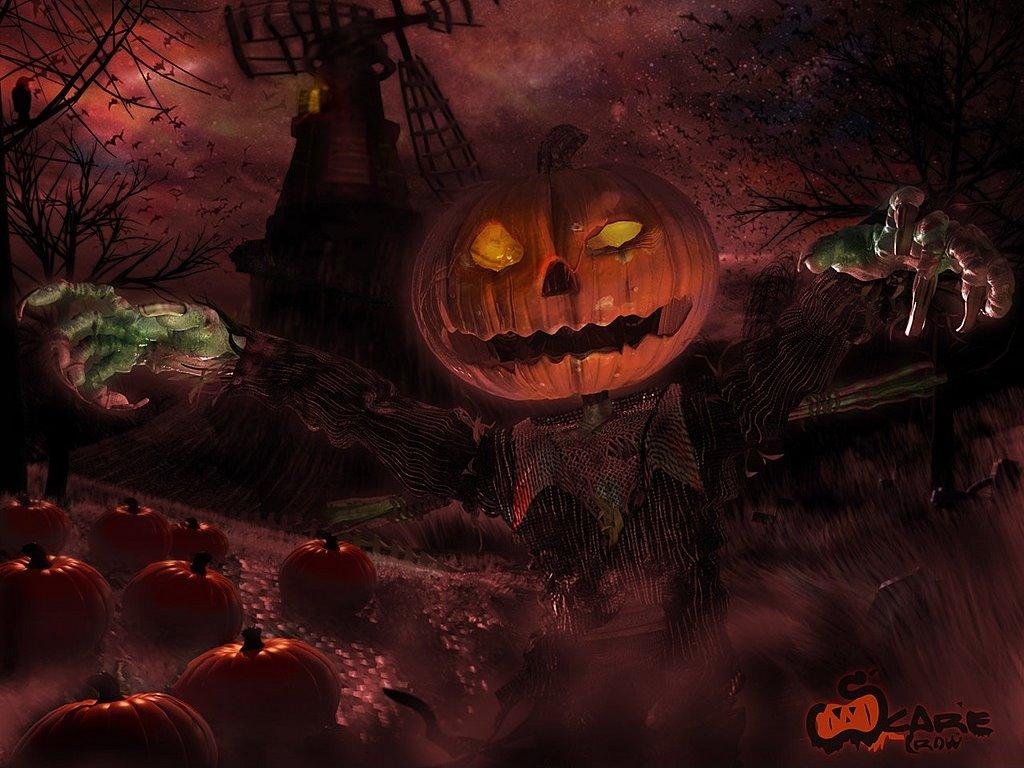 Fantasy Wallpaper: Creepy Scarecrow