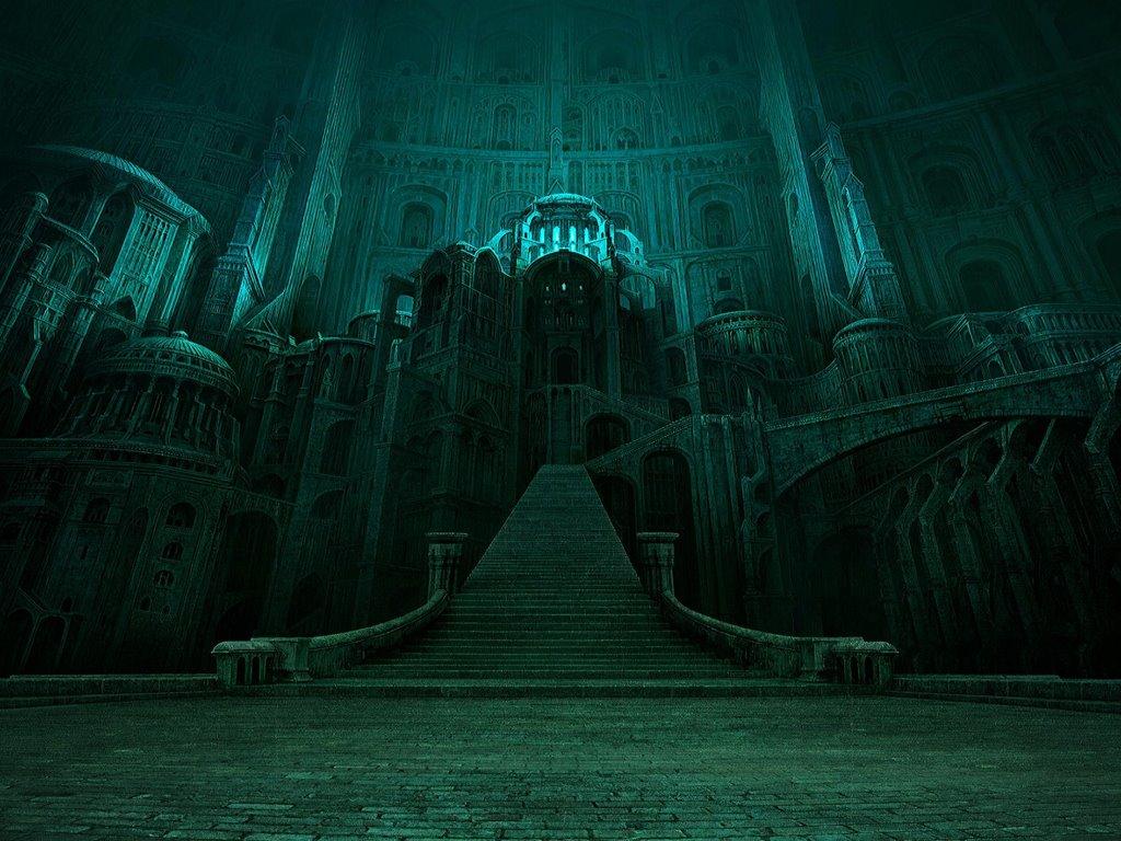 Fantasy Wallpaper: Creepy Staircase