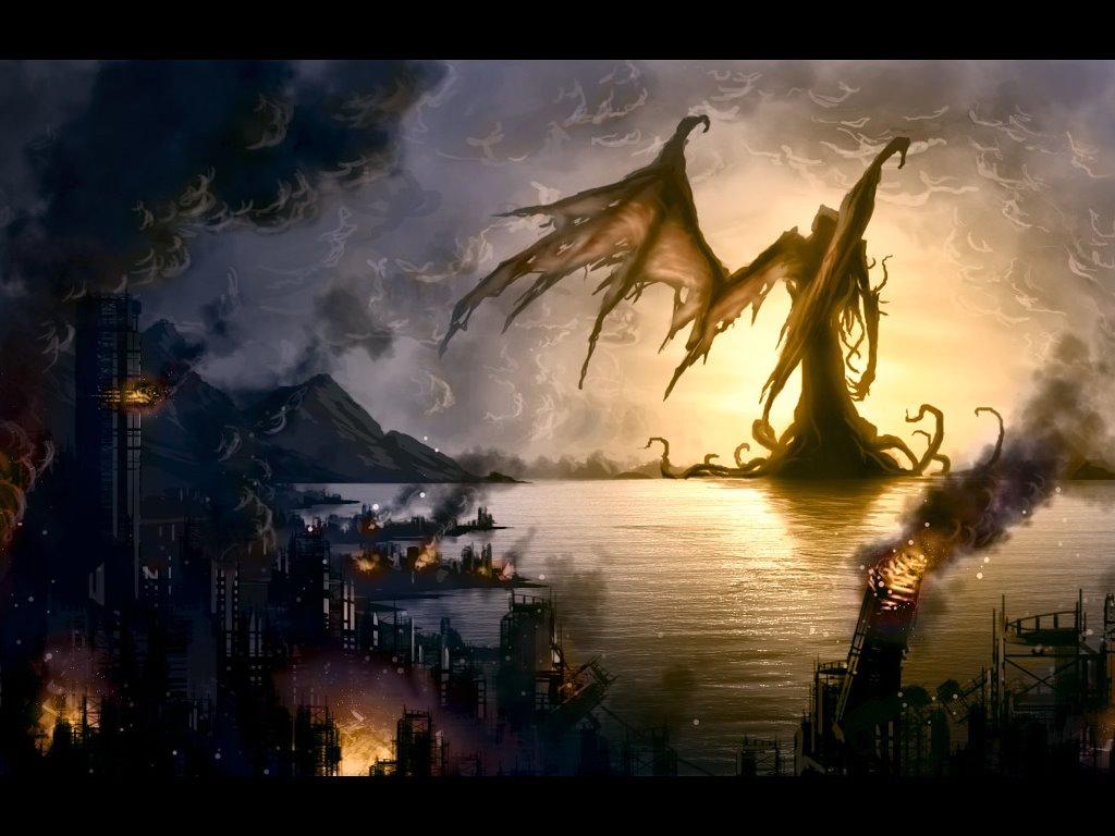 Fantasy Wallpaper: Cthulhu Rises
