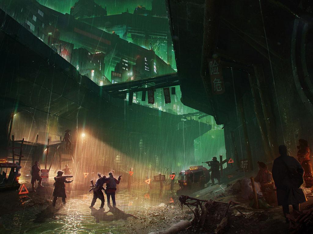 Fantasy Wallpaper: Cyberpunk Slums