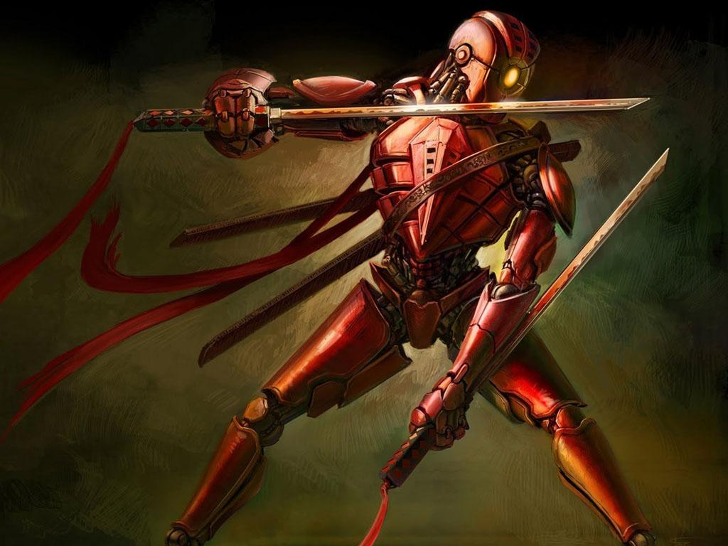 Fantasy Wallpaper: Cyborg Ninja