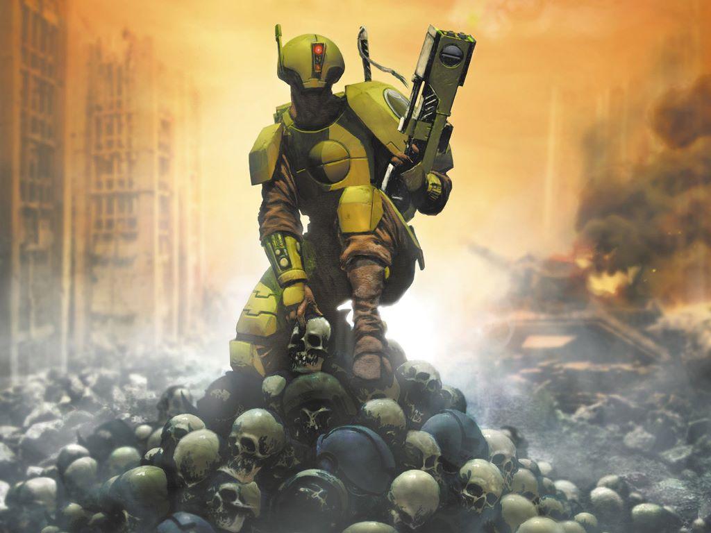 Fantasy Wallpaper: Warhammer 40K - Tau Fire Warrior
