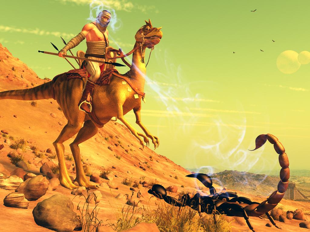 Fantasy Wallpaper: Dark Sun - Crodlu Rider