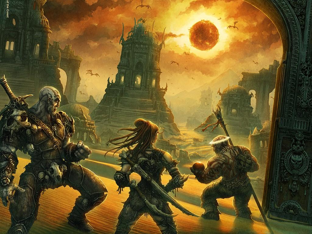 Fantasy Wallpaper: Dark Sun - Dwellers