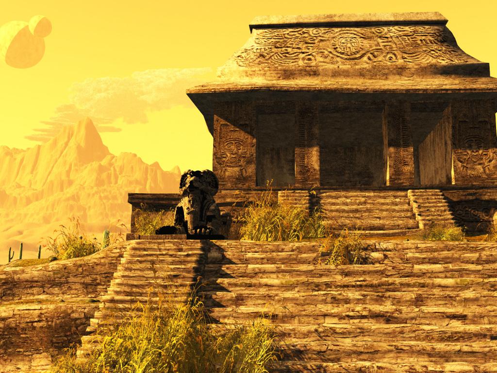 Fantasy Wallpaper: Dark Sun - Temple