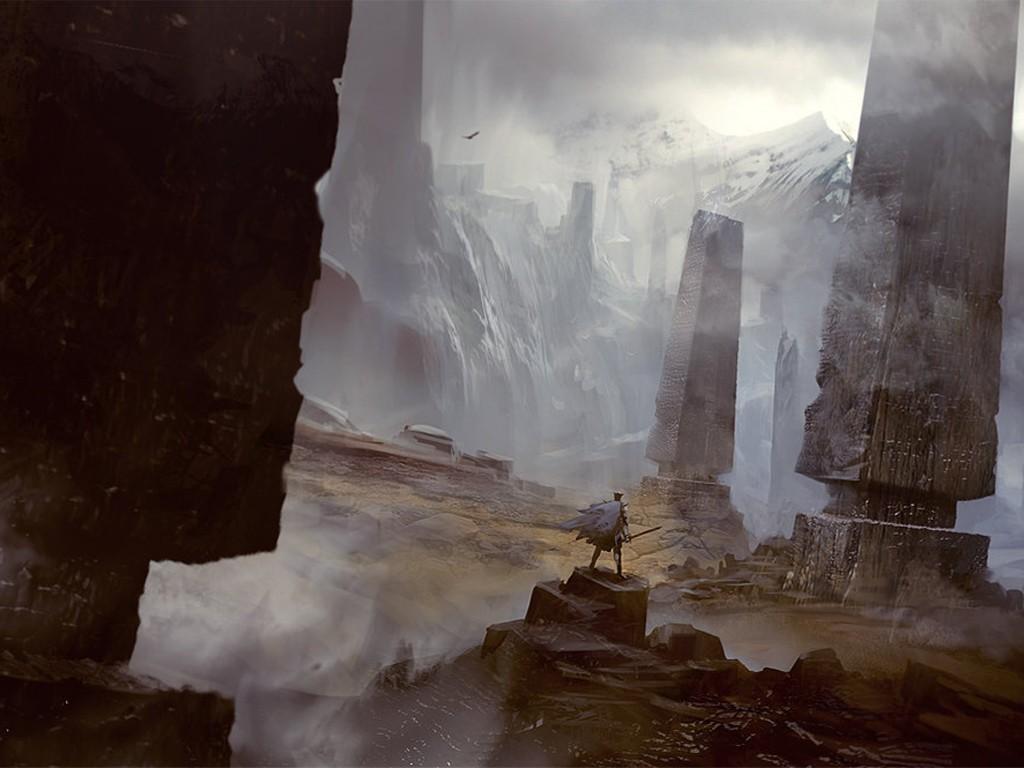 Fantasy Wallpaper: Daryl Mandryk - Pillars of North