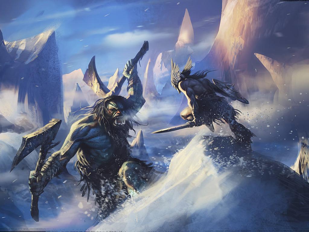 Fantasy Wallpaper: Daryl Mandryk - Savage Ice