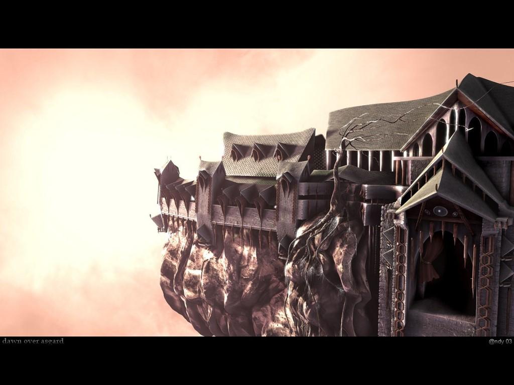 Fantasy Wallpaper: Dawn Over Asgard