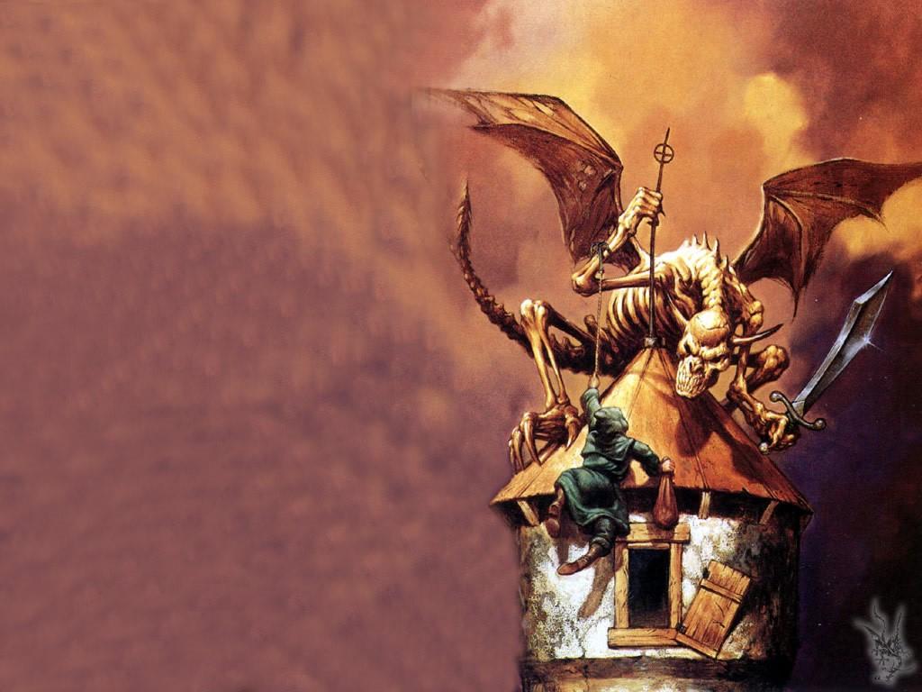 Fantasy Wallpaper: Death Dragon and the Thief
