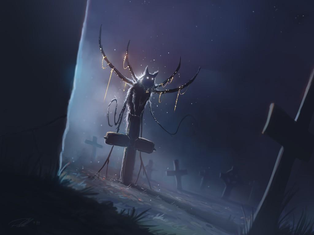 Fantasy Wallpaper: Demon-Cat