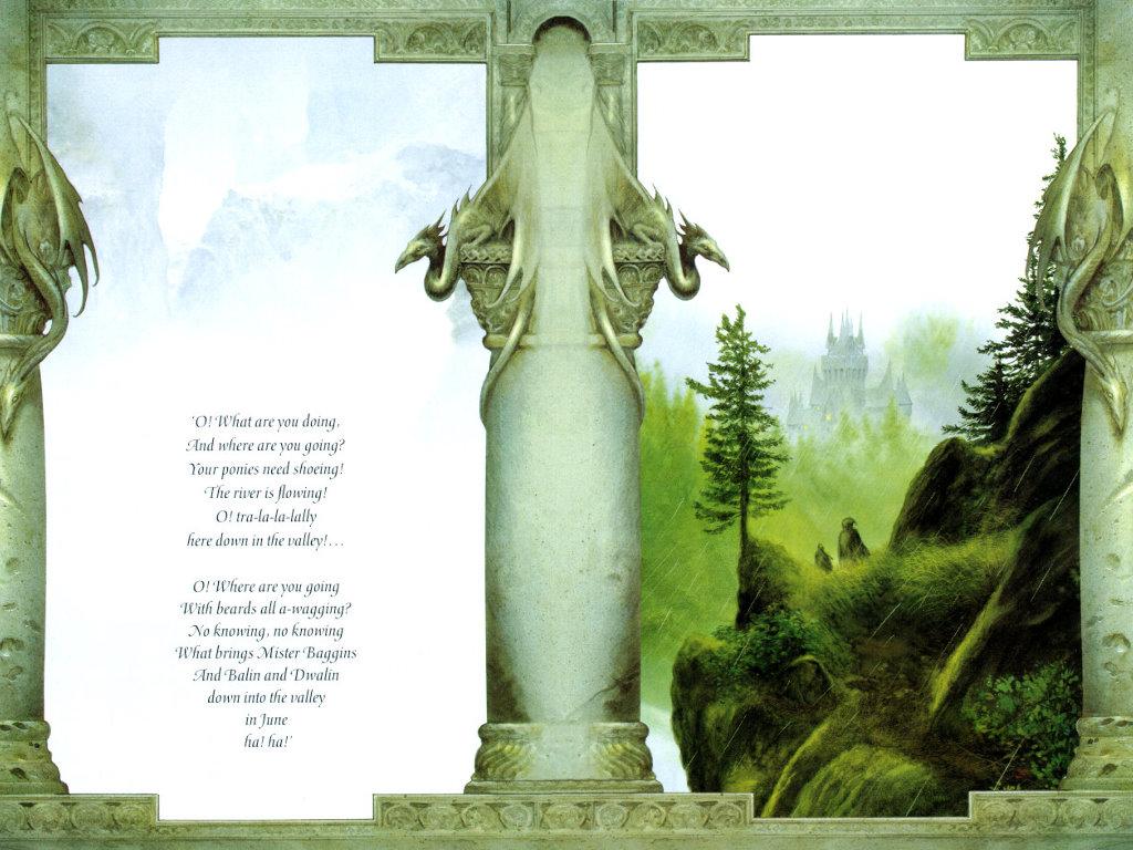 Fantasy Wallpaper: Descend to Rivendell