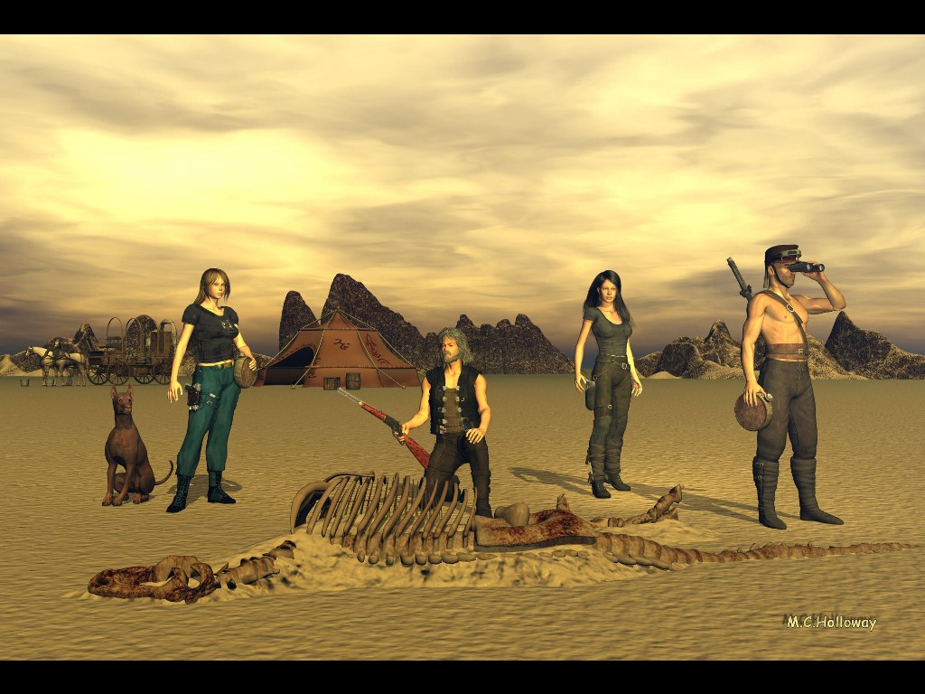 Fantasy Wallpaper: Desert Secret (by M.C. Holloway)
