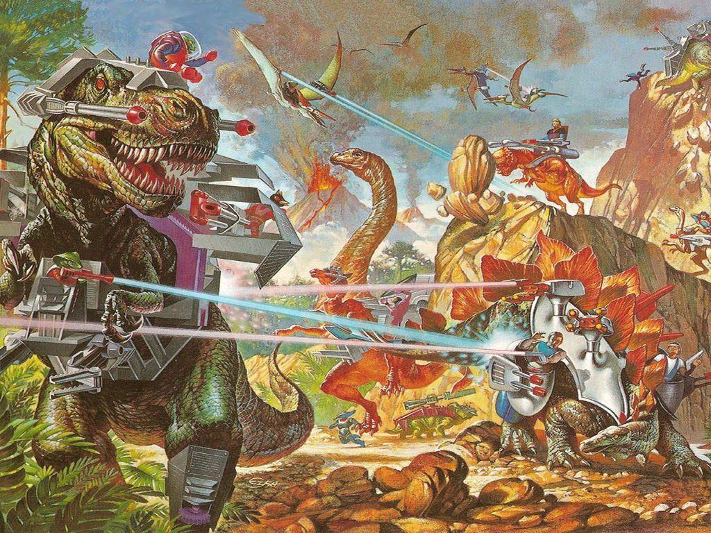Fantasy Wallpaper: Dino Riders