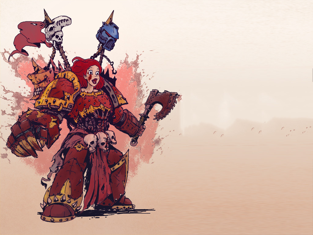 Fantasy Wallpaper: Disney Princess - Warhammer