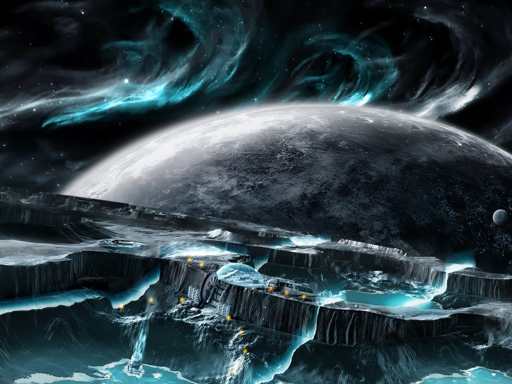 Fantasy Wallpaper: Distant Colony