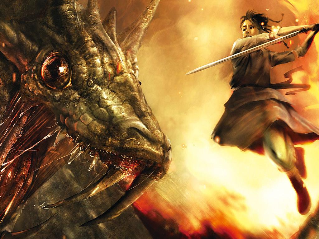 Fantasy Wallpaper: Dragon Killer