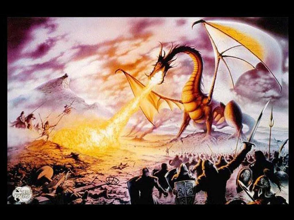 Fantasy Wallpaper: Dragon Kills