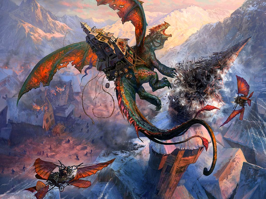 Fantasy Wallpaper: Dragon of War