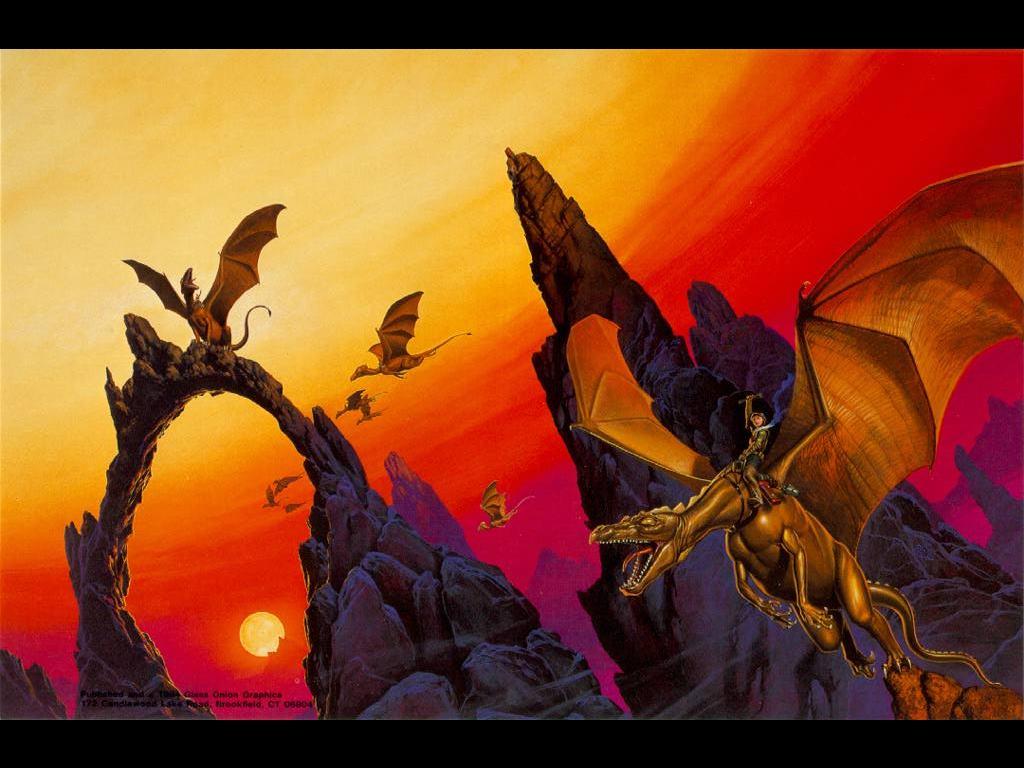 Fantasy Wallpaper: Dragon Rider
