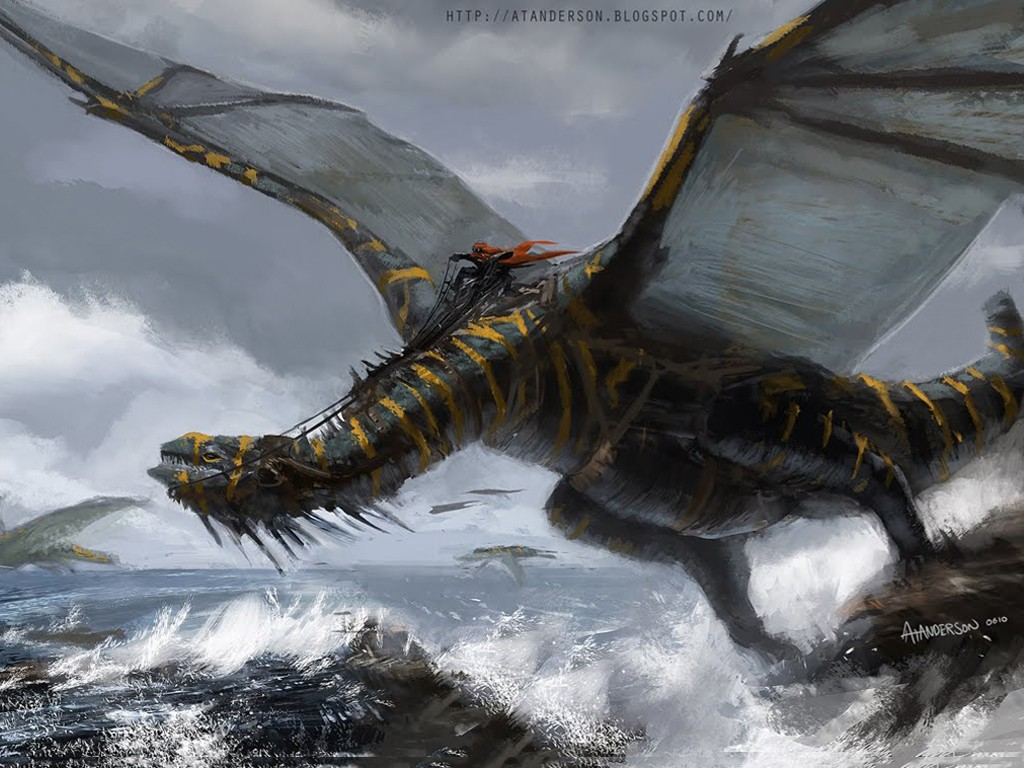 Fantasy Wallpaper: Dragon Riders