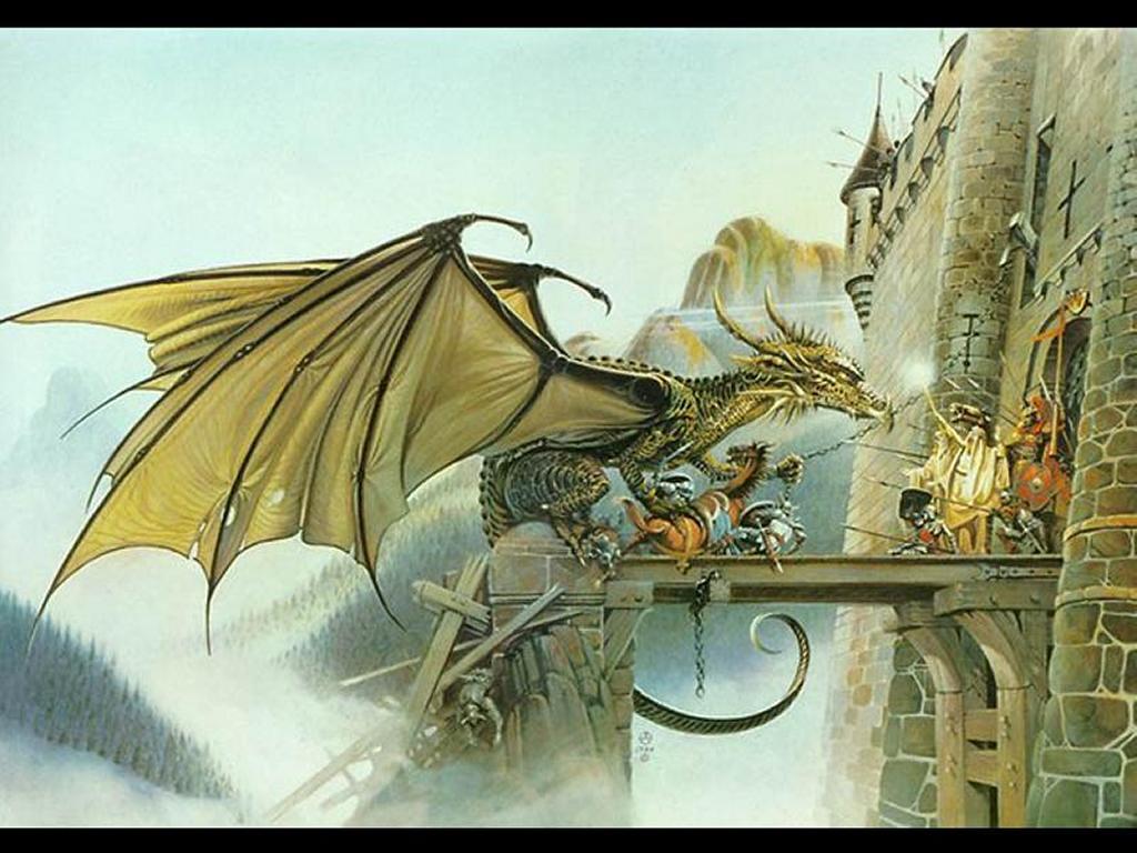 Fantasy Wallpaper: Dragon Strikes
