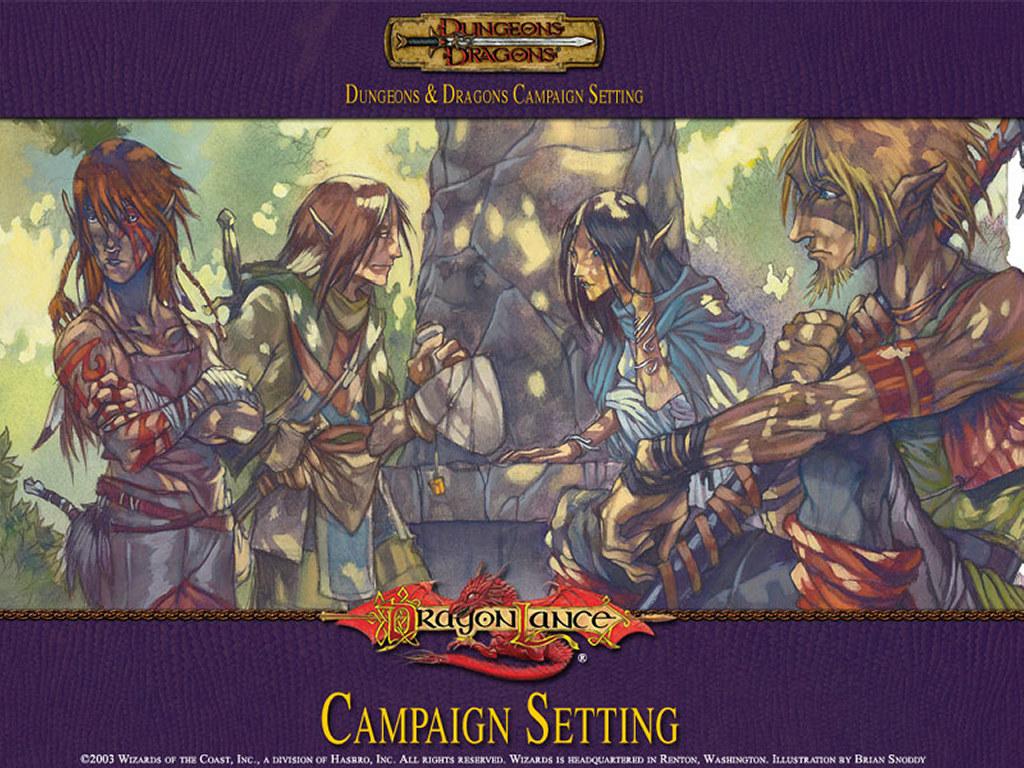 Fantasy Wallpaper: Dragonlance Campaign Setting - Elves