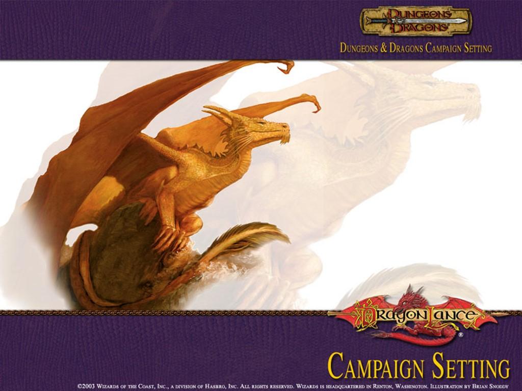 Fantasy Wallpaper: Dragonlance Campaign Setting - Dragon