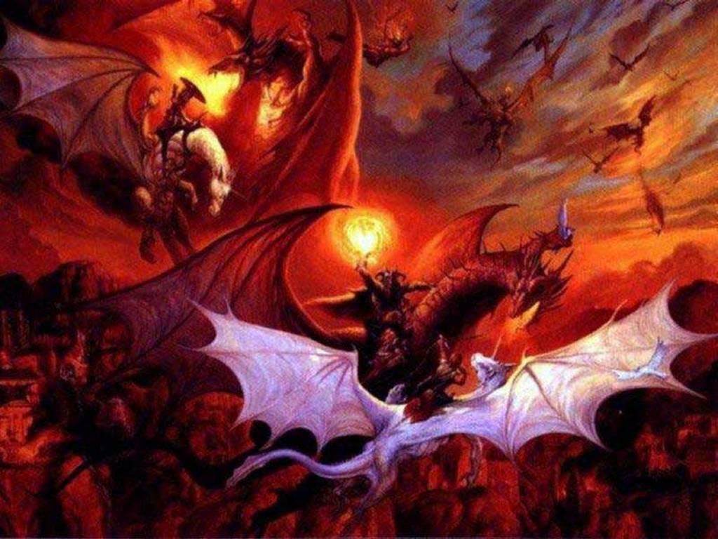 Fantasy Wallpaper: Dragons War
