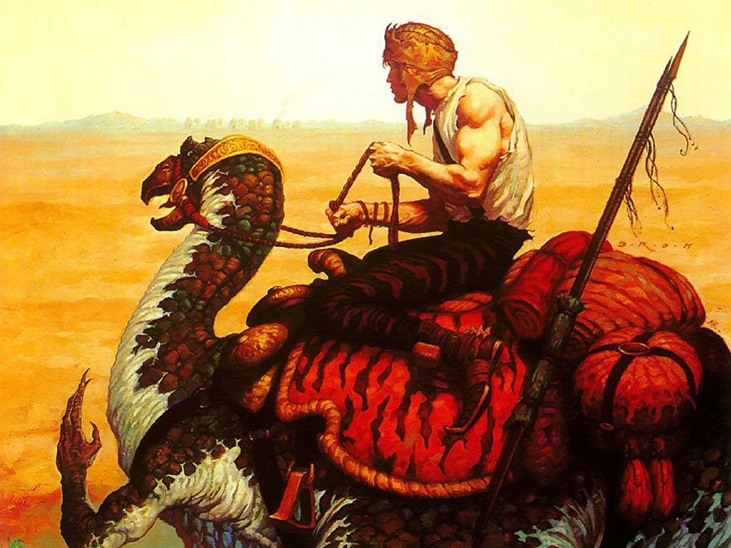 Fantasy Wallpaper: Brom - Dune Trader