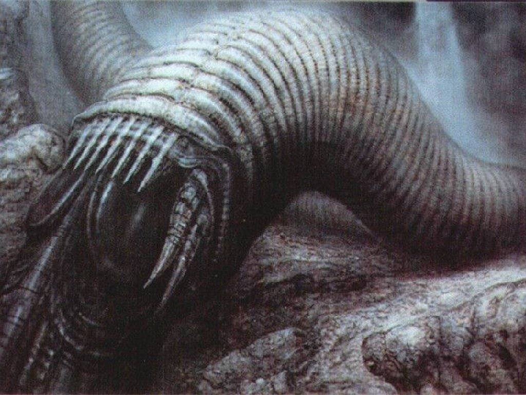 Fantasy Wallpaper: Dune - Worm (by Giger)