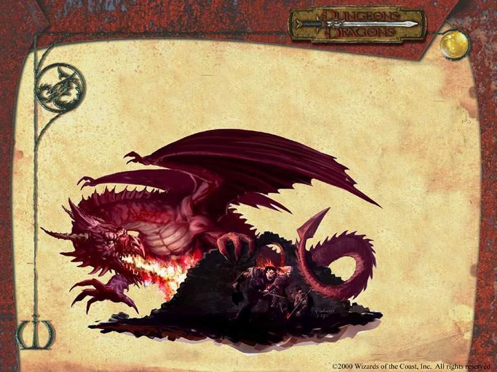 Fantasy Wallpaper: Dungeons and Dragons - Dragon