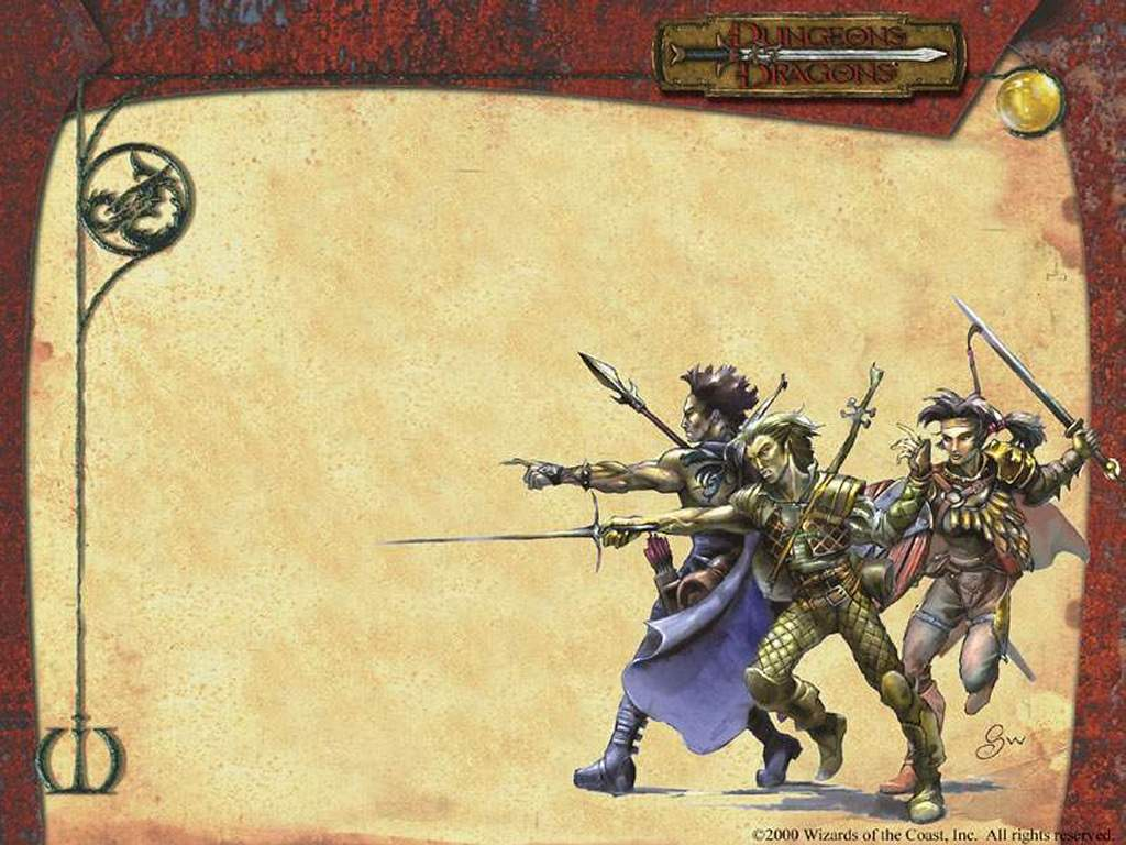 Fantasy Wallpaper: Dungeons and Dragons - Fighters