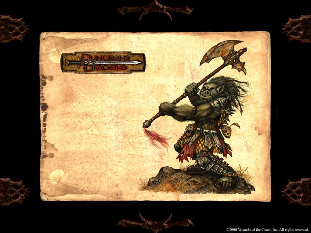 Fantasy Wallpaper: Dungeons and Dragons - Orc