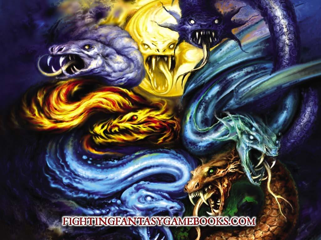 Fantasy Wallpaper: Evil Serpents