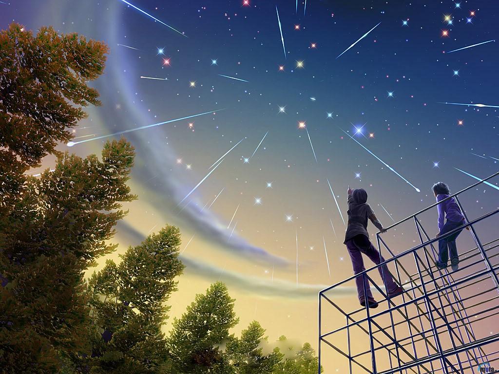 Fantasy Wallpaper: Falling Stars