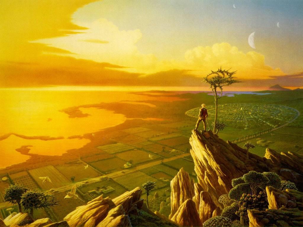 Fantasy Wallpaper: Fantasy - Sunset