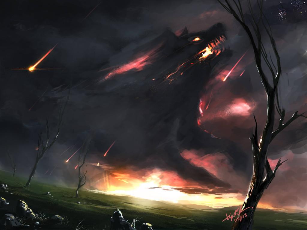 Fantasy Wallpaper: Fenris is Rising