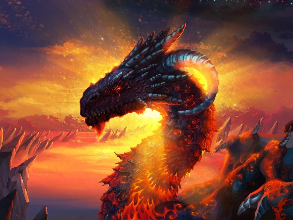 Fantasy Wallpaper: Fierce Dragon