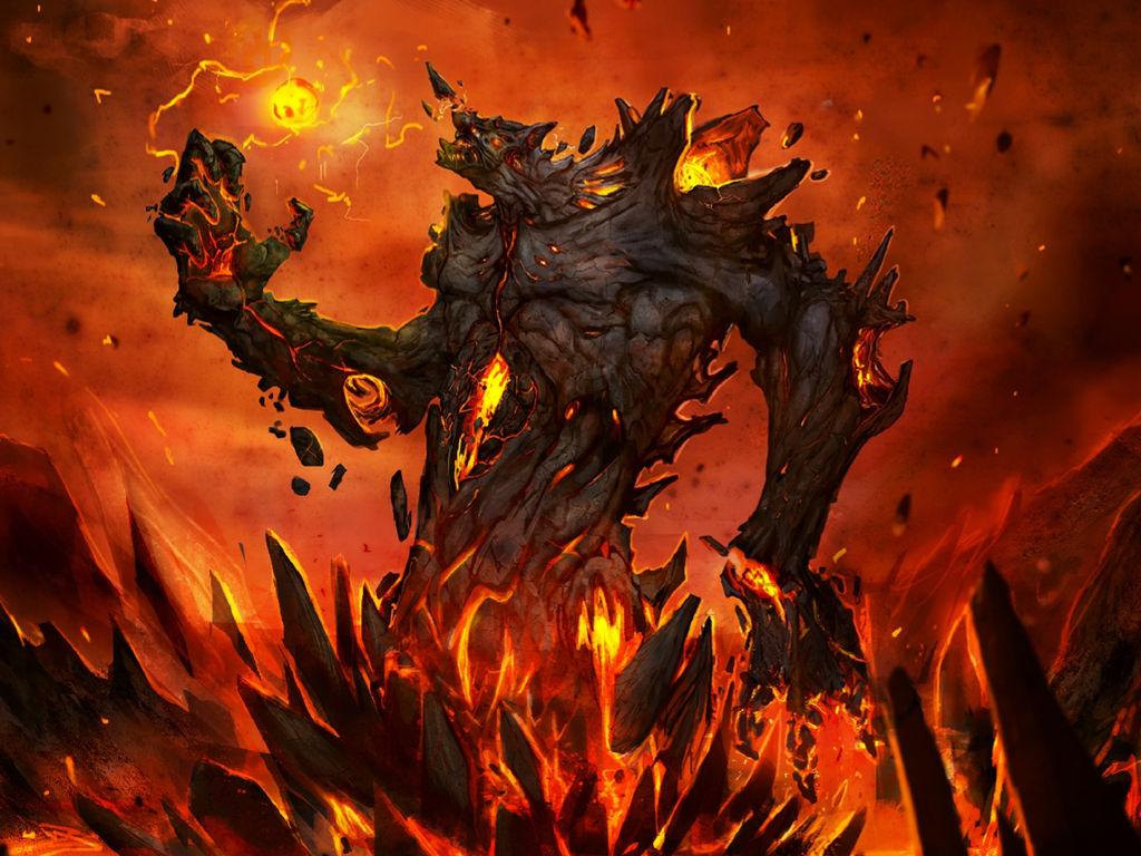 Fantasy Wallpaper: Fire Elemental