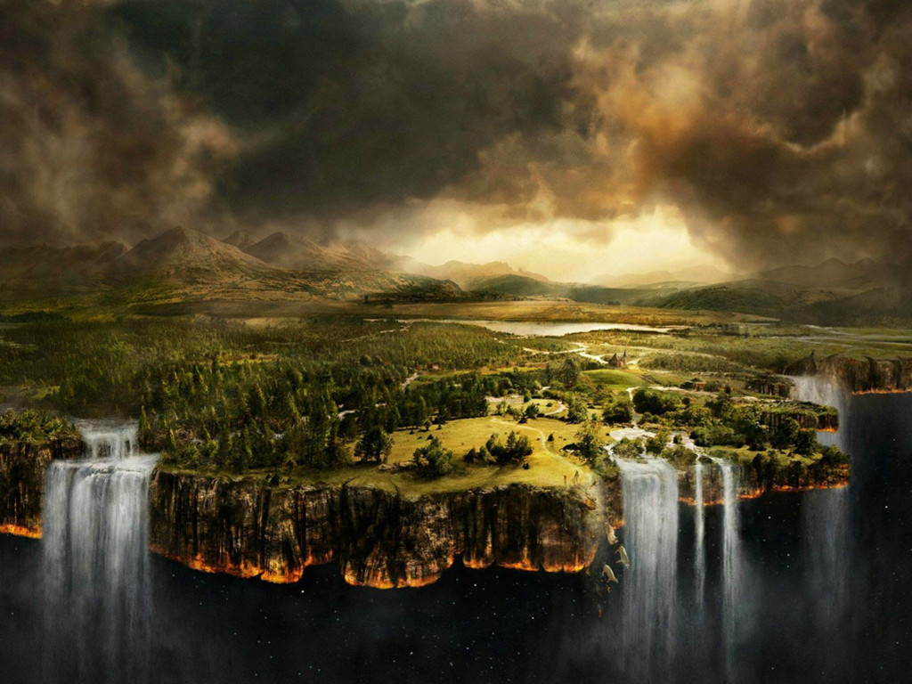 Fantasy Wallpaper: Flat Earth