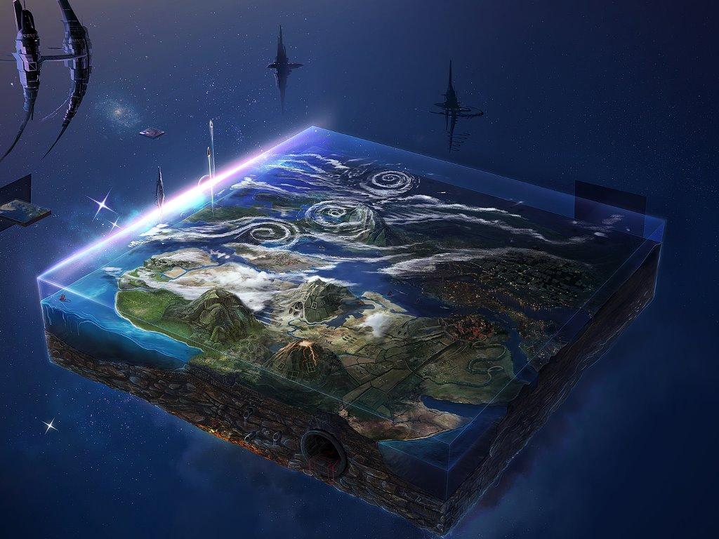 Fantasy Wallpaper: Flatworld