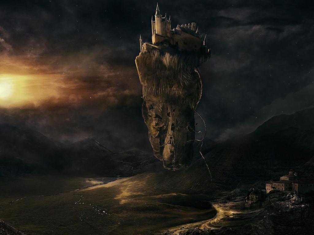 Fantasy Wallpaper: Floating Castle